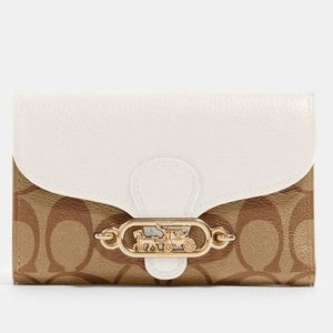 Coach Medium Envelope Wallet In Signature Canvas
